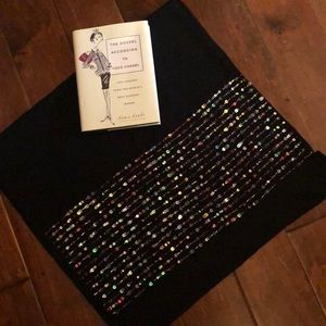Cejon black beaded scarf/wrap